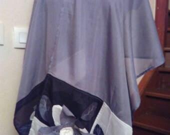 Color light gray silk shawl