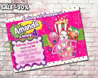 Shopkins Party, Shopkins Birthday Party, Shopkins Invitation, Shopkins Birthday, Shopkins Printable, Shopkins