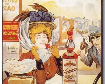 Framboisette Vintage French Poster Print
