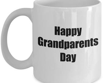 Happy Grandparents Day - Gifts For Grandma Grandpa - First Coffee Mug Cup