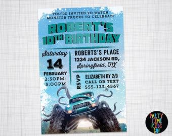Monster Trucks Invitation Monster Trucks Movie Birthday Party Invite Printable Custom Invite - Digital File Supplied