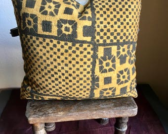 African Mud Cloth Pillow Cover , Ethnic Pillow Cover , Mud Cloth Pillow Cover