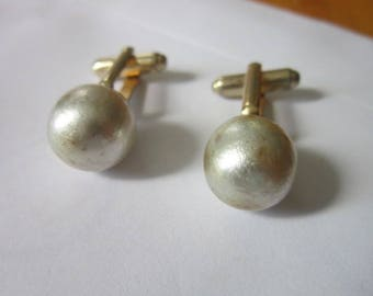 Antique Large Faux Pearl Cuff Links