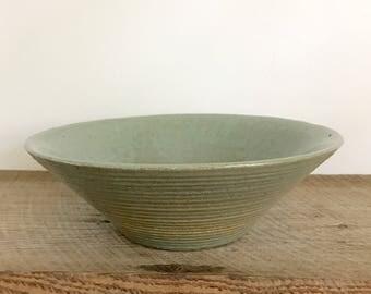 Turquoise Handmade Pottery Bowl