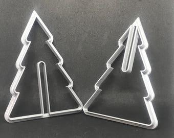 3d Christmas Tree Cookie Cutter Set, Handmade Cookie Cutter Set