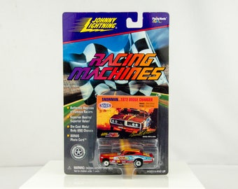 Johnny Lightning Racing Machines Snowman 1972 Dodge Charger 1/64 Diecast