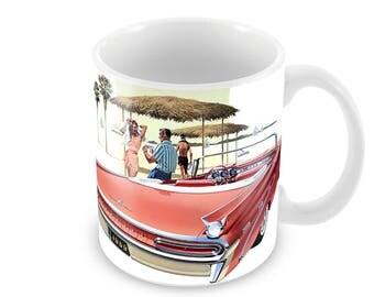 1959 Pontiac Bonneville Advert Ceramic Coffee Mug    Free Personalisation