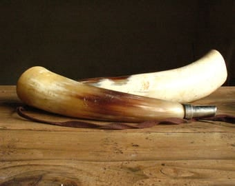Pair of vintage French hunting horns, 1950s