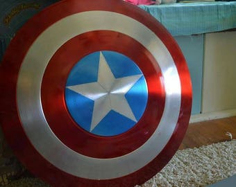 Captain America Shield Aluminum Spun 24 in Diameter 1:1 Scale