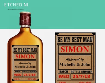 Be my Best Man Personalised Whiskey Liquor Labels