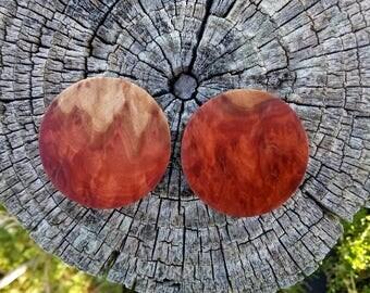 Handmade Red Mallee burl Plugs