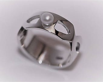 Ring in 925 Silver with Pearl