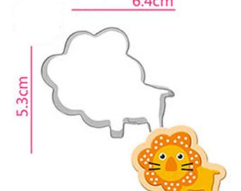 Lion Cookie Cutter - Animal Fondant Biscuit Mold - Pastry Baking Tool Set