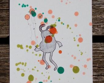 Monsters Love Balloons Illustration