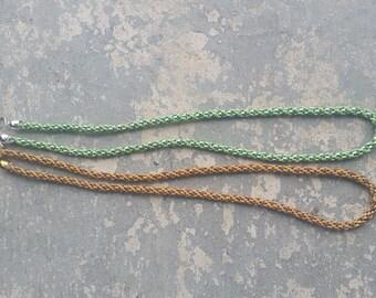 Kumihimo Necklaces