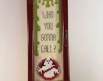 Ghostbusters beaded cross stitch