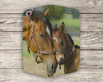 Beautiful Horses Full Flip Case For iPhone 5, 5S, SE (S2027)