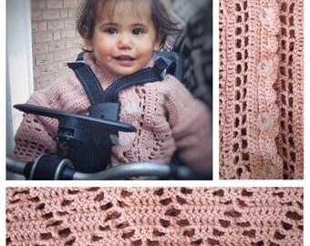 Crocheted Vintage Hoodie Baby Girl