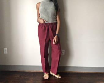 Oversized Trouser Red Burgundy Suit Pants