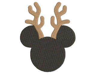 Mickey Rudolph Embroidery Design