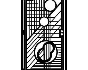 Modern Artistic Metal Gate - Modern Design - Wright II - Steel Modernism Art - Outdoor Modernism Sculpture - Geometric Garden Gate Panel