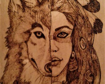 She is Wolf Wood Burning