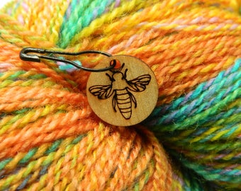 Bee Removable Stitch Markers - Set of 6