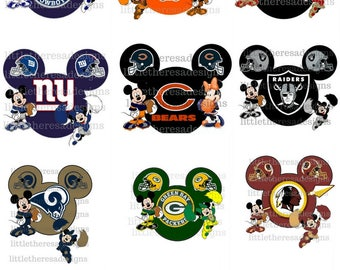 Mickey and Minnie Football Head Digital Images,Diy
