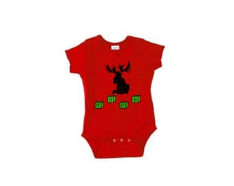 Onesie - Christmas, moose and cubes