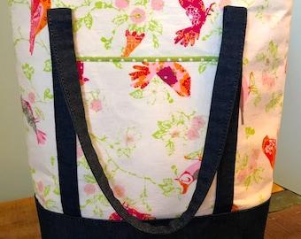 Handmade tote bag.