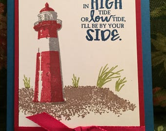 Handmade Card- Featuring a lighthouse