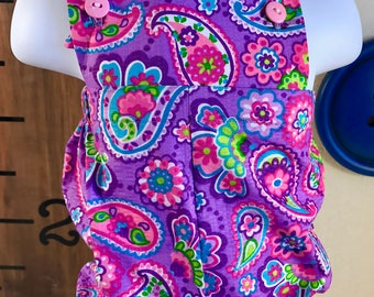 Purple Paisley Romper