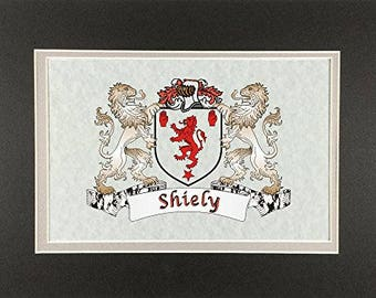 """Shiely Irish Coat of Arms Print - Frameable 9"""" x 12"""""""