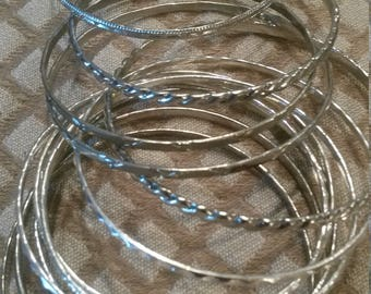 Supplies: Silver Tone Bracelets (12 pieces)