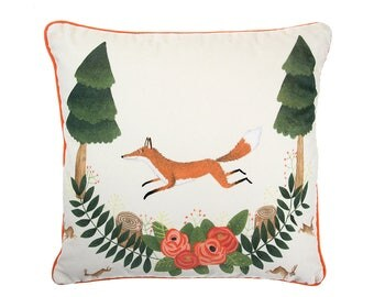 Fox and Rabbits Cushion