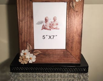 Home made wooden floral frame