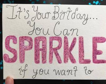 It's Your Birthday...