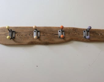 Retro Vintage Industrial Driftwood Coat Hook Rack