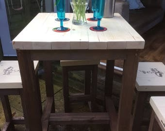 Bar Stool and Poseur Table Set