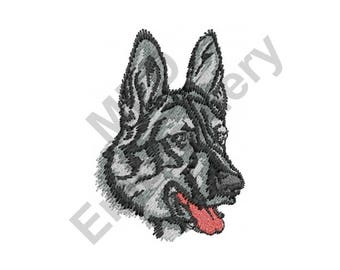 German Shepherd Dog - Machine Embroidery Design