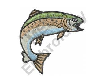 Fish - Machine Embroidery Design, Trout