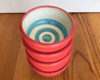 Sky Blue Bullseye Bowls