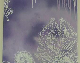 Purple Paisley Paintings