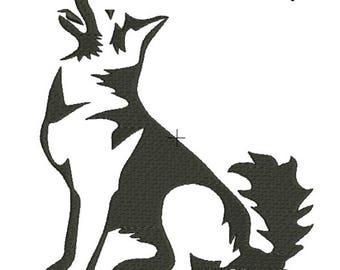 German shepherd embroidery machine design dog animal digital instant download pattern hoop file t-shirt  designs