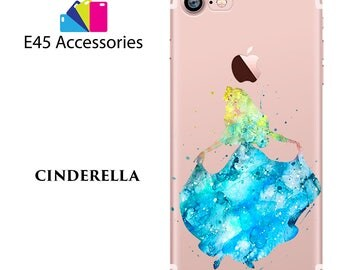 Cinderella Disney Watercolour Hard Case for iPhone 5S 5 SE, iPhone 6S 6 or iPhone 7