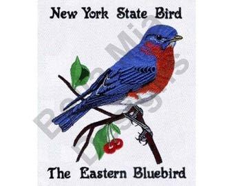 Eastern Bluebird - Machine Embroidery Design