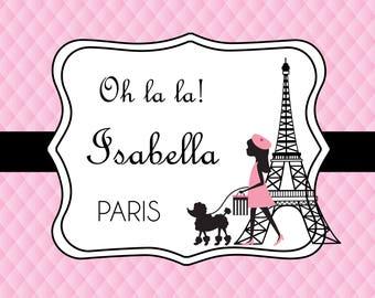 PRINTED Custom Paris Birthday Backdrop - Custom Parisian Birthday Party Background - Chic Girl Birthday Party - Paris Theme Party Decoration