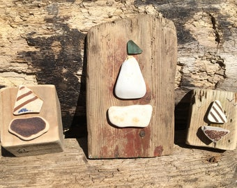 Boats of seaglass &seapottery