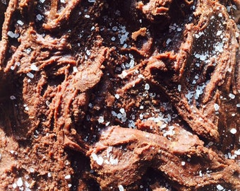 Vegan Salted Dark Chocolate Fudge