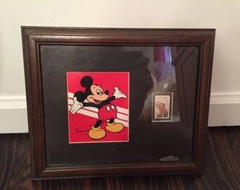Honoring Walt Disney - Vintage Framed Stamp